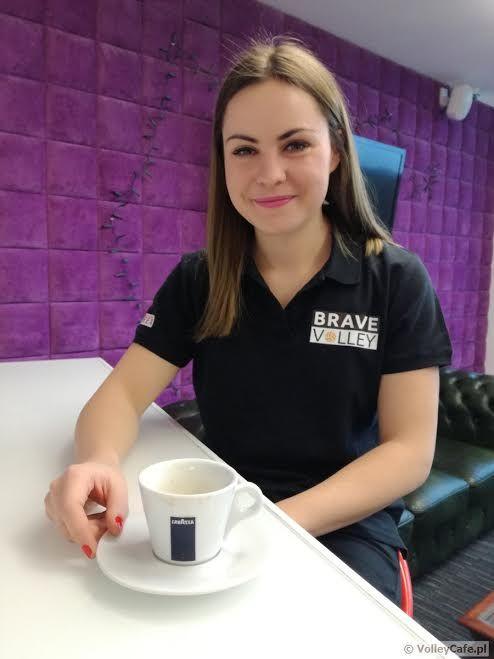 Kaja Stefaniak during #coffee #interview #cafe #volleyball