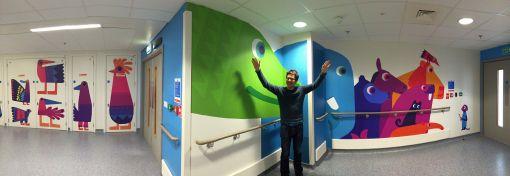 Chris Haughton commission for Royal London Hospital children's ward