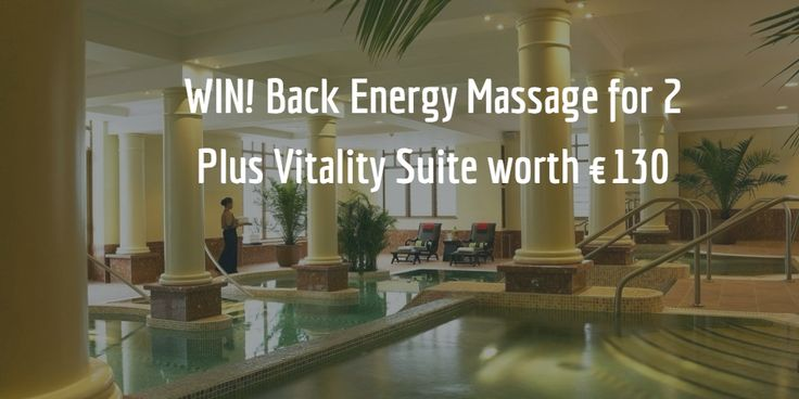 #COMPETITION WIN! Back Energy Massages for 2 plus access to the vitality suite worth €130 at The Brehon & Angsana Spa Killarney. The Back Energy Massage is great for ironing out aches and tensions in the back while the Vitality Suite soothes, relaxes and detoxifies the body #Heaven ✨ To Enter Ans the Q via the Link, Good Luck