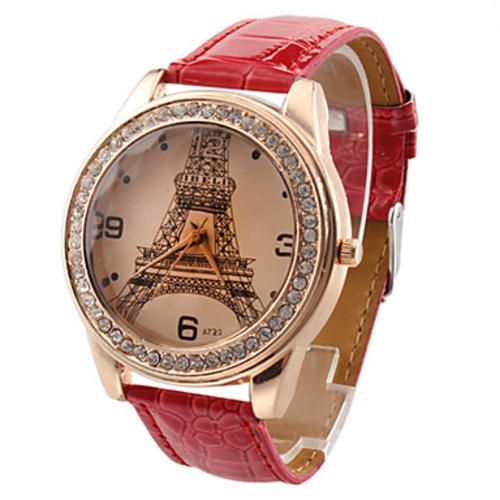 Eiffel Tower Pattern Gold Case Quartz Analog Wrist Watch | bidorbuy.co.za - The straps come in different colors :) If you'd like to pre-order one let us know!