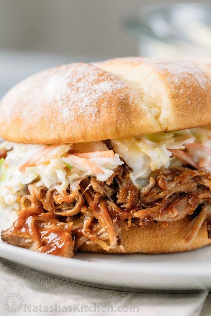 Olla de cocción lenta barbacoa sacó cerdo - receta fácil y el cerdo tirada es tan jugosa y sabrosa!