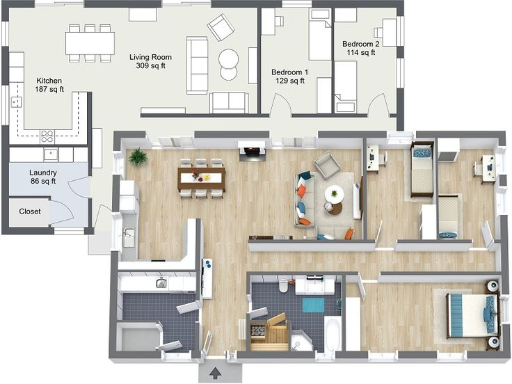 56 best floor plan software images on pinterest floor for Quick floor plan maker