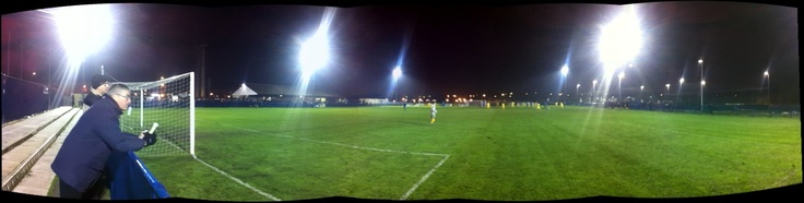 Bootle FC's Delta Taxi Stadium - a night time game against Formby FC