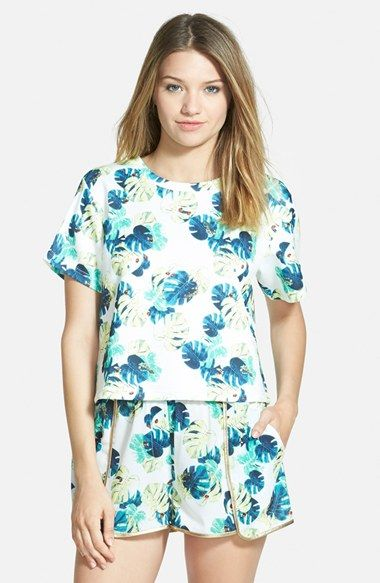 Whitney Eve Short Sleeve Crop Top available at #Nordstrom