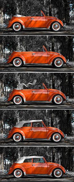 1962 Volkswagen ad - Sessão Fusca Conversível - Capota Abrindo