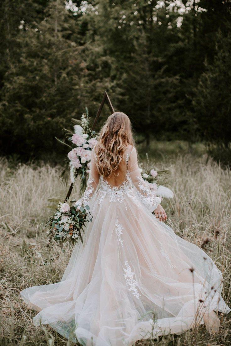 Rosa Brautkleider für immer! Ahh, gemütlich für…
