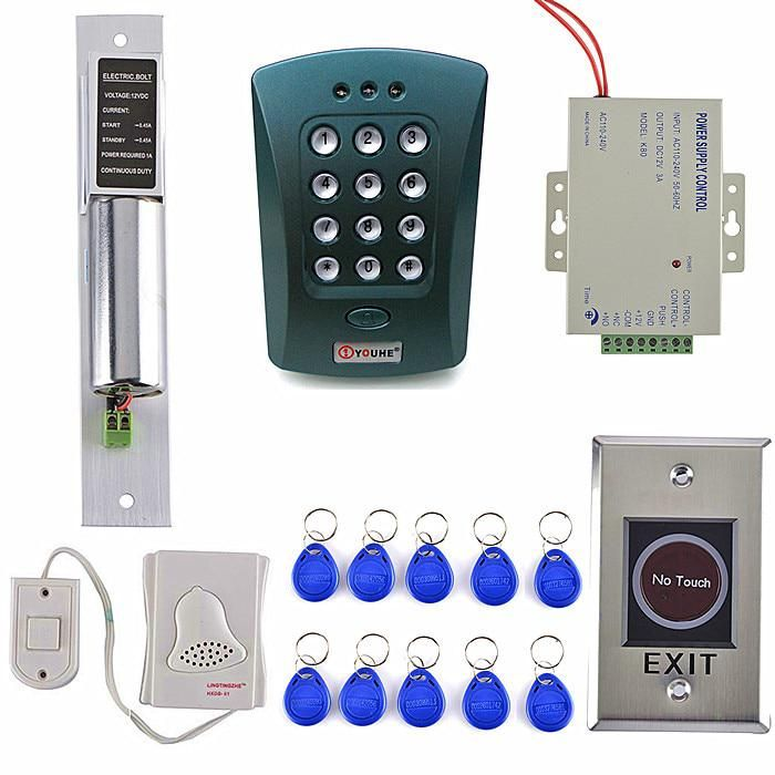 No Touch Button Electric Bolt Lock Power Diy Full Complete Rfid Door Lock Access Control Keypad Kit For Home Security Yesterday S Electric Bolt Bolt Lock Door Locks