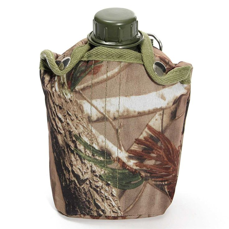 n the heat of battle, it is necessary for soldiers to stay cool and hydrated. This Army-styled canteen is a tough and tactical addition to your military gear. The plastic canteen is a military standard 1 liter capacity and the cloth case ensures your water is kept cool and bottle is secure. The cap is secured with a plastic collar, making it impossible to lose and the insulated cover has a metal ring so you can attach to your pack. A simple canteen fitting for any survival or camping kit.