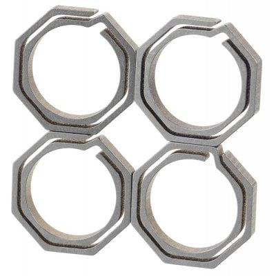 Share and Get It FREE Now | Join Gearbest |   Get YOUR FREE GB Points and Enjoy over 100,000 Top Products,4PCS Titanium Alloy Octagonal Dual Layer Key Chain
