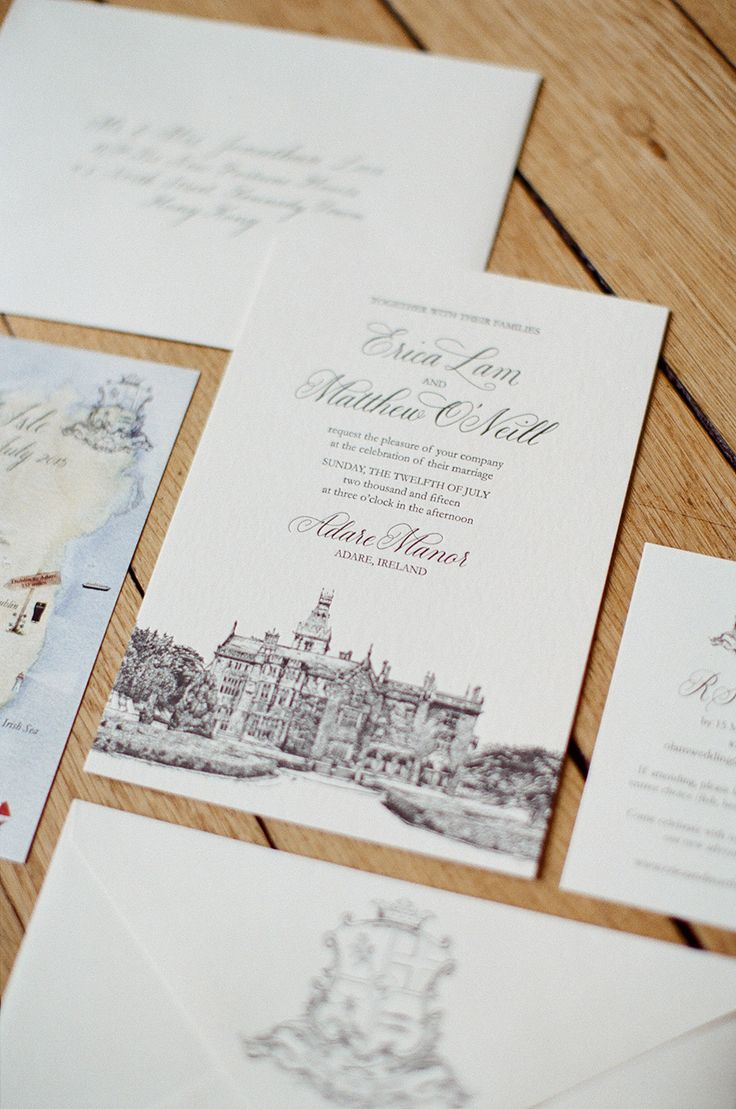 all ireland wedding invitations%0A Black Tie Destination Wedding at Ireland u    s Adare Manor