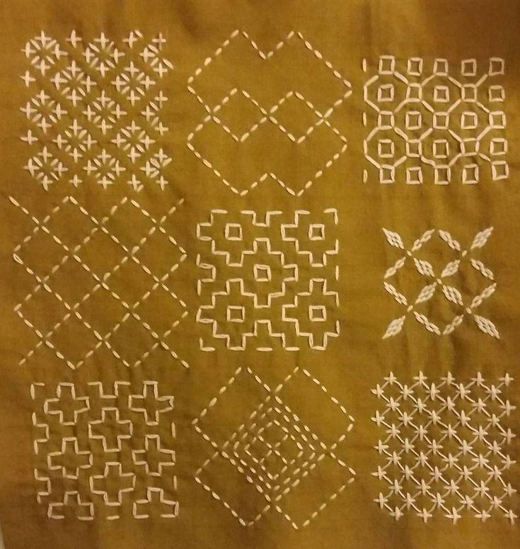 Sashiko Quilting Patterns : sashiko and other stitching: sashiko Sashiko Pinterest Stitches, Trips and Culture
