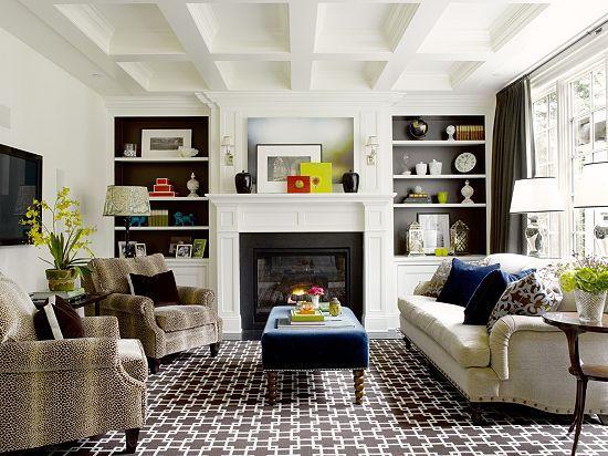 Built ins for formal living room.