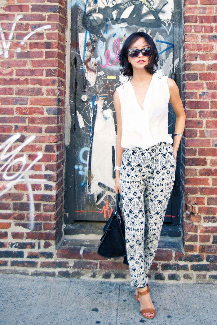 Aztec pants. She styled this so well!