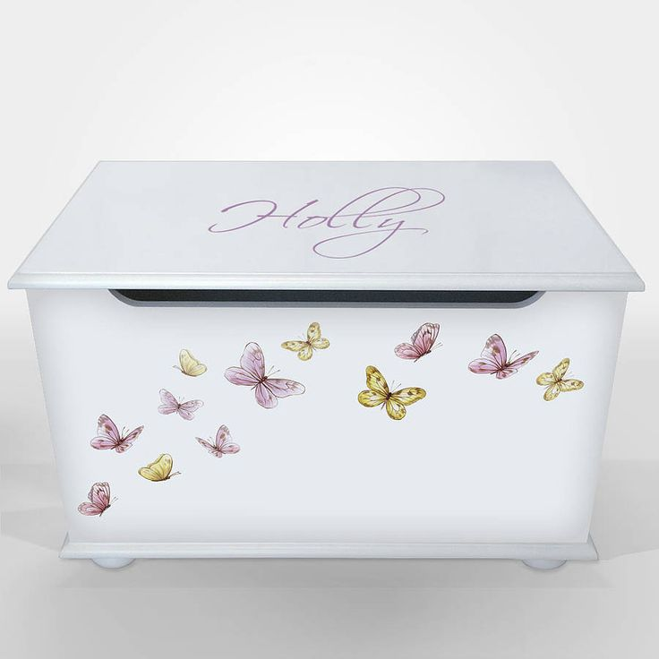 Personalised Toy Box For Girls from notonthehighstreet.com