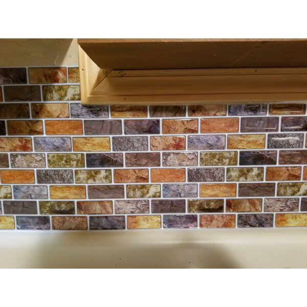 12 X 12 Pvc Peel Stick Subway Tile Stick On Tiles Mosaic Tiles Tile Backsplash