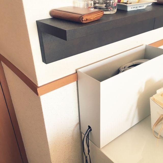 junomuさんの、おうちすっきりプロジェクト,整理収納部,無印良品,A4ファイルボックス,ルーター隠し,のお部屋写真