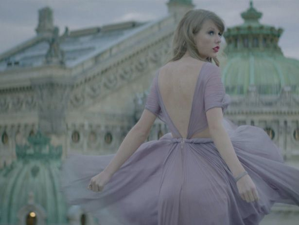 """Taylor Swift """"Begin Again"""" - dress, paris - what more could a girl ask for???"""