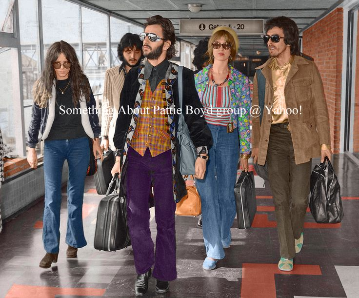 truthaboutthebeatlesgirls:  Flying To Cannes - Colorized May 9, 1972 - Colorized version of Maureen, Ringo, Pattie and George at Heathrow Airport taking a flight to Nice, France to attend the Cannes Film Festival where The Concert For Bangladesh would be screened. Notice how each couple is walking in step together!