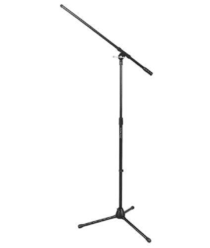 On Stage Stands MS7701 Tripod Boom Microphone Stand by OnStage. $24.95. The On Stage 7701B Microphone Stand is a durable tripod mic stand and boom combination and just about the best value we've ever offered. These stands use the highest quality components. The legs fold down for the most compact storage. Setup height is adjustable from 36 to 63 inches. On Stage 7701B Tripod Microphone Boom Stand Features and Specifications Solid cast end with standard 5/8-27 th...