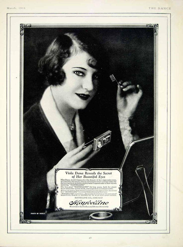 1926 Ad Maybelline Viola Dana Make Up Beauty Mascara Portrait Face YTD1 | eBay