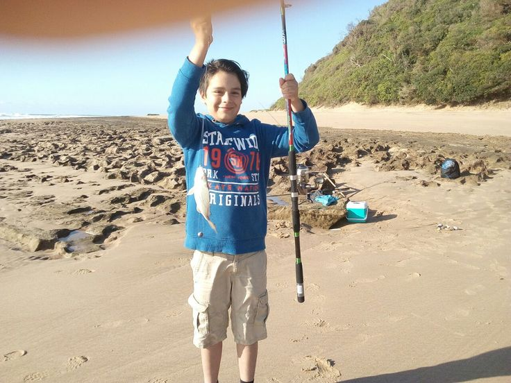 Young man fishing 4 Holland in the Indian Ocean