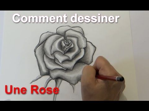 how to draw a rose comment dessiner une rose en 4 m thodes faciles my video tutorials. Black Bedroom Furniture Sets. Home Design Ideas