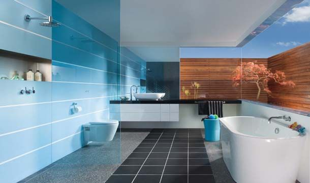 Timber privacy fence outside windows   Bathroom Inspiration | Family Space Style Bathroom in Glenelg - SA | Reece Bathrooms