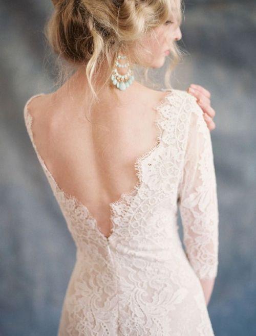 backless, crochet, dress, elegance, hair, lace, style, wedding, white - image #3117627 by marine21 on Favim.com