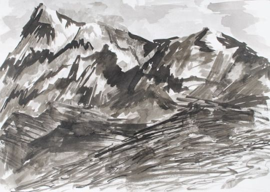 take me there indian ink on paper  by valentini mavrodoglou