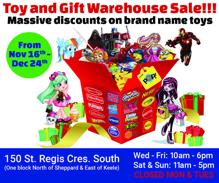Toronto Toy Sale at the Pop! Space
