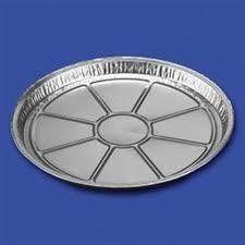 aluminium schaal rond 21 cm 100 stuks #Aluminium #wegwerp #serveerschalen #ovenschalen #cateringschalen