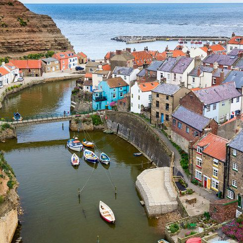 Staithes, North Yorkshire, England                                                                                                                                                                                 More