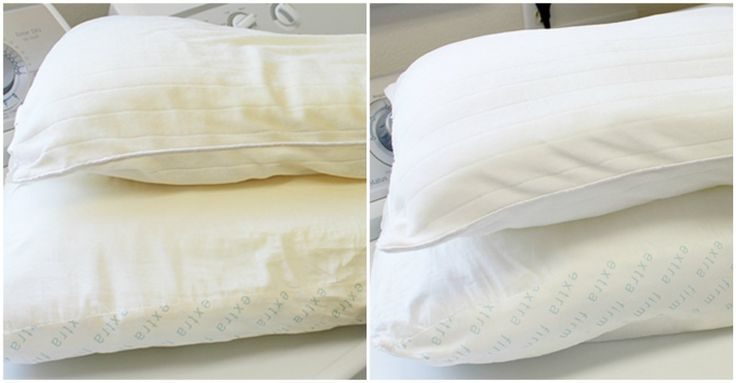 Recette Facile pour Blanchir Vos Oreillers!!  Voici une recette efficace pour blanchir vos d'oreillers! Ingrédients: 1 tasse de détergent à lave-vaisselle en poudre 1 bouchon de détergent à lessive 1/2 tasse de Borax 1 tasse de javellisant Procédure:...