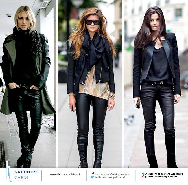 Deri her zaman çok moda ve her zaman çok iddialı… Bu sene ise deri pantolonlar tüm kadınların gözdesi…