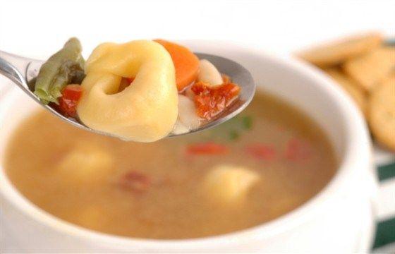 Овощной суп с тортеллини