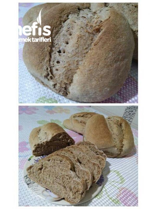 Evde Doğal Tam Buğday Ekmeği