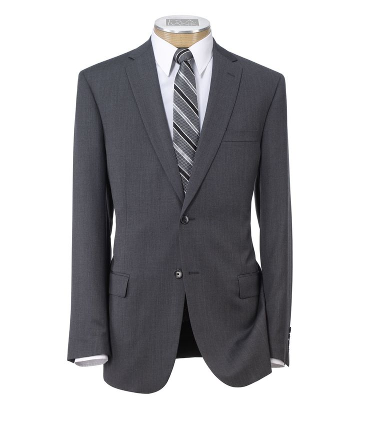 Traveler Slim Fit 2-Button Suit with Plain Front Trousers - suits we bought for the boys today, looks lighter in person - will rent vest and buy the ties.