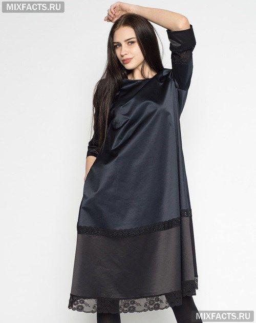 Атласные платья с кружевом