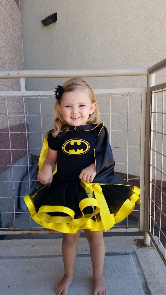 Batman inspired ribbon trimmed tutu by LYMChildrensCreation