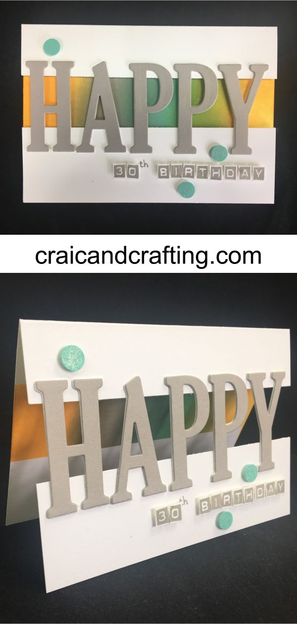 Find out how to make this super easy card with die…
