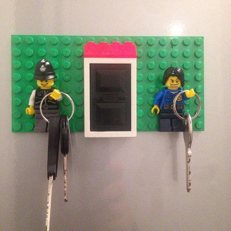 Diy Lego key holder #diy #lego #keyholder #mommodesign