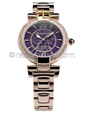 Aries Gold Enchant Bedazzled Limited Edition L-500-RG-PURPLE