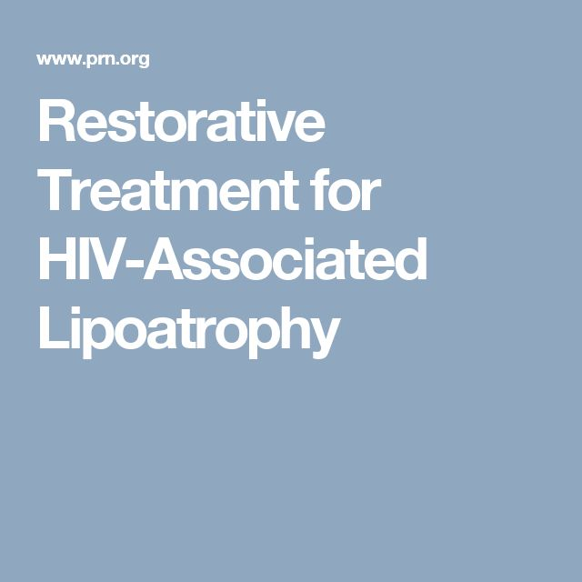 Restorative Treatment for HIV-Associated Lipoatrophy