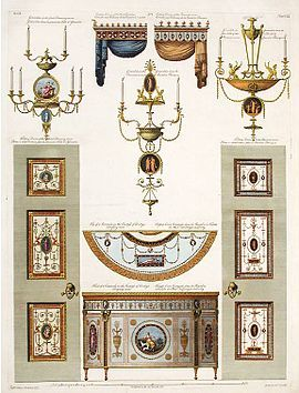 Adam style - Wikipedia, the free encyclopedia Details for Derby House in Grosvenor Square, an example of the Adam brothers' decorative designs.