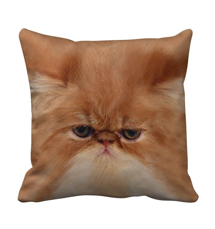 Grumpy Cat Throw Pillow from Beloved Shirts