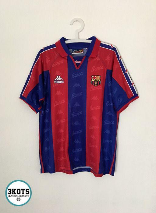 f9be1ded195392 BARCELONA FC 1995/97 Home Football Shirt (S) Soccer Jersey KAPPA Vintage  Maglia #Kappa #Jerseys