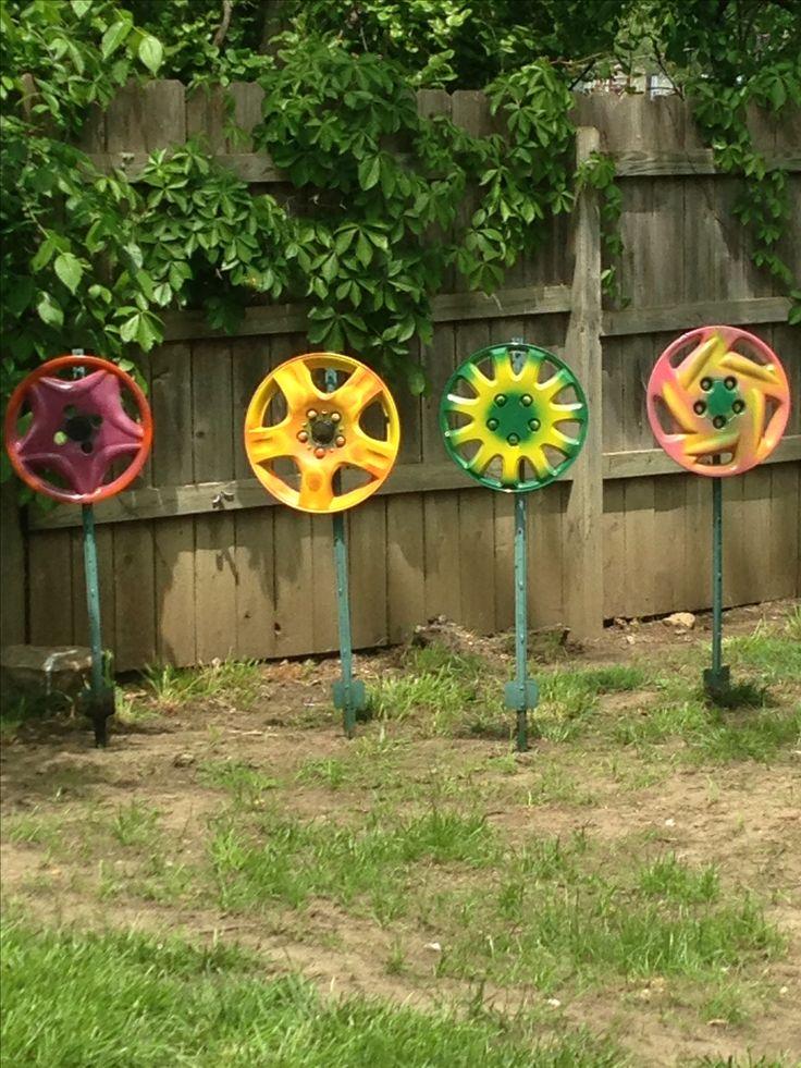 Hubcap flowers
