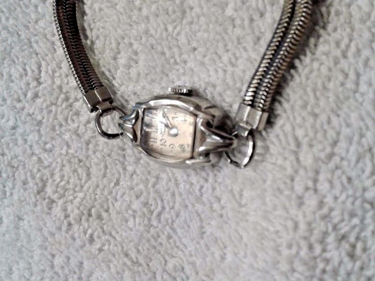 Vintage Woman's Birks  Challenger Watch Signed Topps Steel Elongated Clasp Band #Birks