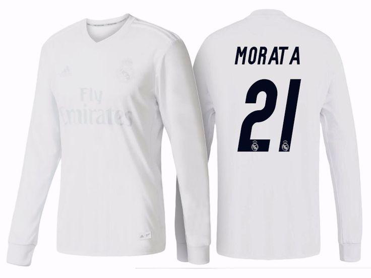 Real Madrid #21 Alvaro Morata 2016-17 Parley LS Jersey