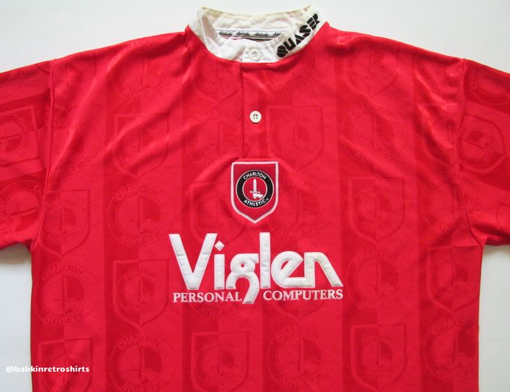 Charlton Athletic 1996/1997/1998 home football shirt by Quaser  vintage 90s soccer retro jersey UK #vintage #vintagestyle #soccer #football #jersey #shirts #90s
